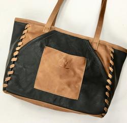 Charcoal/Tan Laced Shoulder