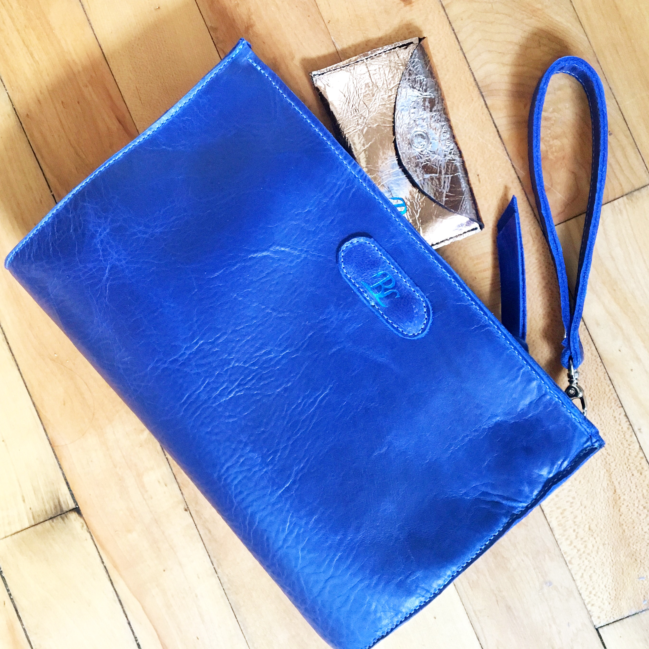 Cobalt Zippered Wristlet