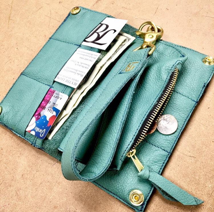 Aqua Long Wallet