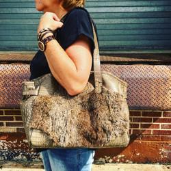 Rabbit Fur Rebecca Bag