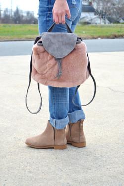 Rabbit Fur Backpack