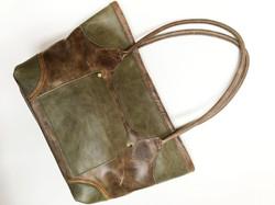 Rolled Handle Shoulder Bag