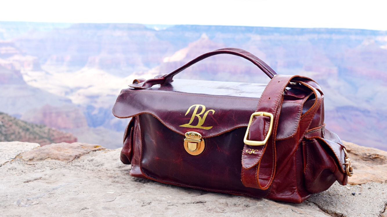 Burgundy Pull-Up Carmera Bag