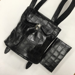 Black Croco Heritage Backpack
