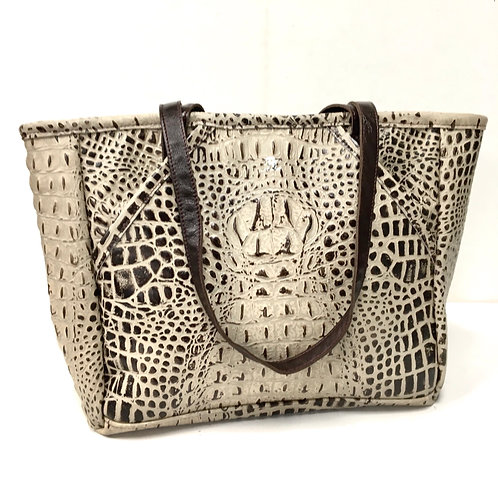 Dark Chocolate Croco Alexander Tote