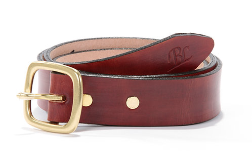 """1 1/4"""" Hand Dyed Leather Belts"""