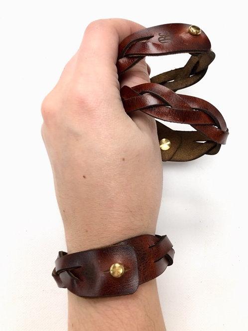 Cognac Braid Bracelet