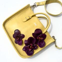 Kentucky Derby Yellow/Orchid Satchel