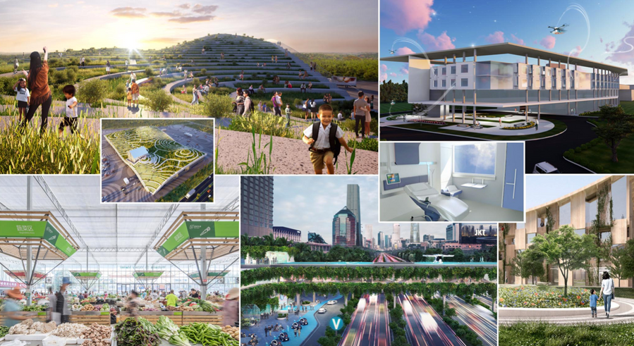 What might a heath and wellness centric city of the future look and feel like?