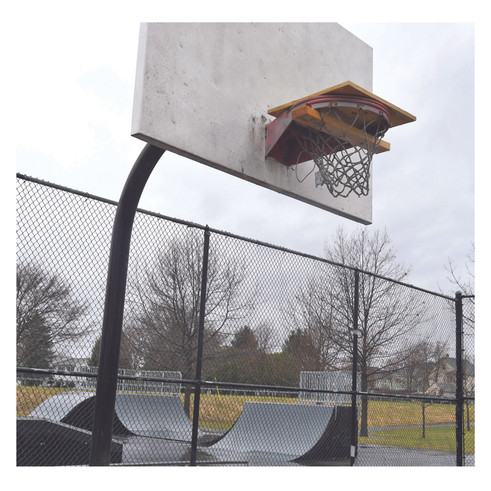 Removed basketball hoop