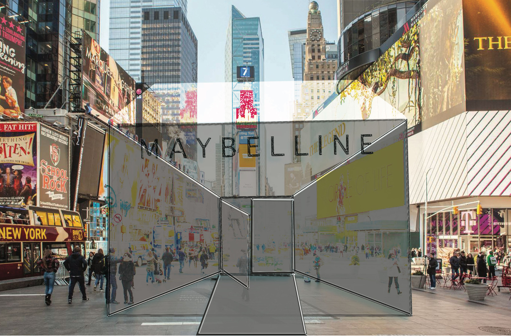 The venue in which our pop-up shop will take place in as part of Maybelline's new branding campaign.