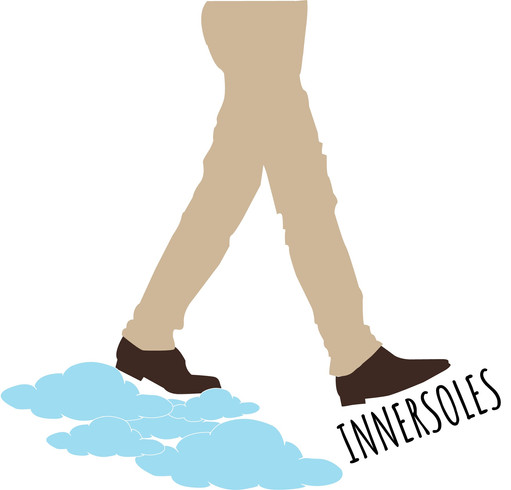 This is the INNERSOLES logo, you'll be walking on clouds soon don't worry!