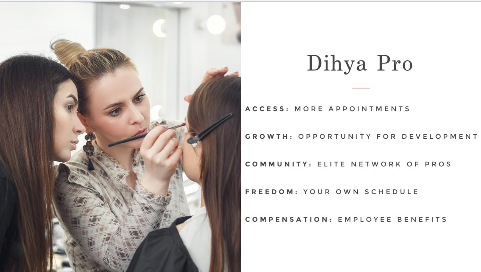 Dihya Beauty professional benefits.