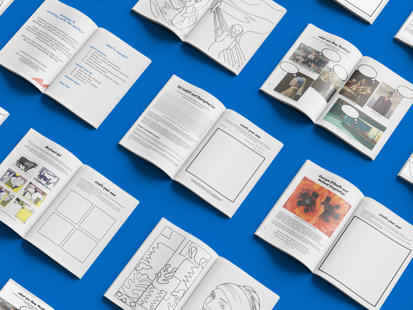 A selection of pages from Creating with the Masters.
