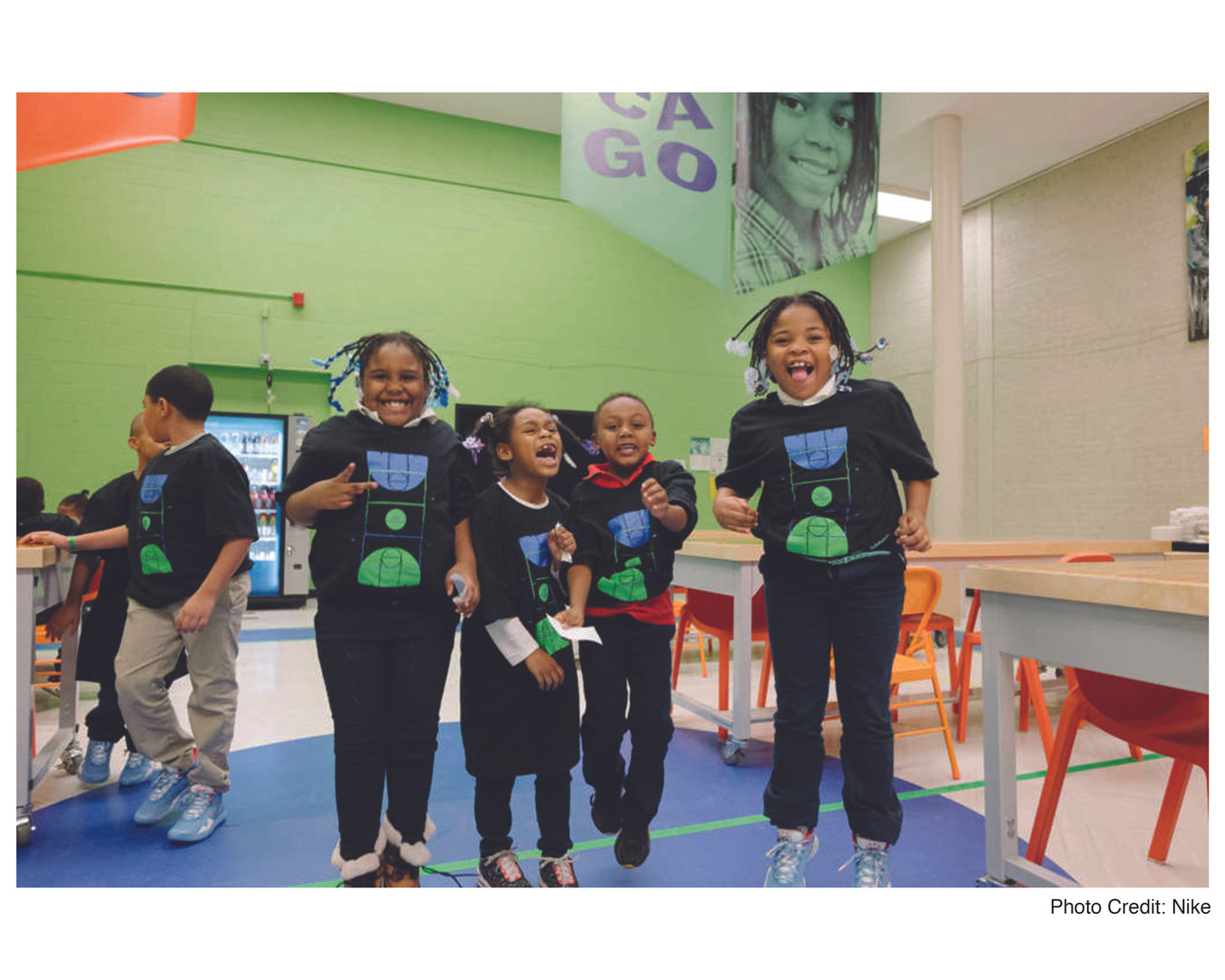Children attending workshop at their newly refurbished Boys and Girls Club.
