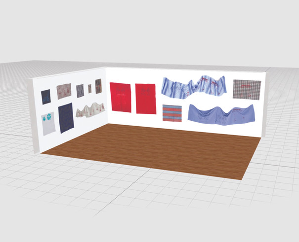 My virtual exhibition in a room generator to show the 3-d view of the sustainable printmaking show.
