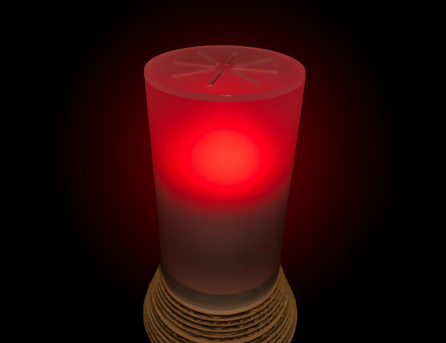 EnerGlow flashes red to signal when a household is using high amounts of electricity.