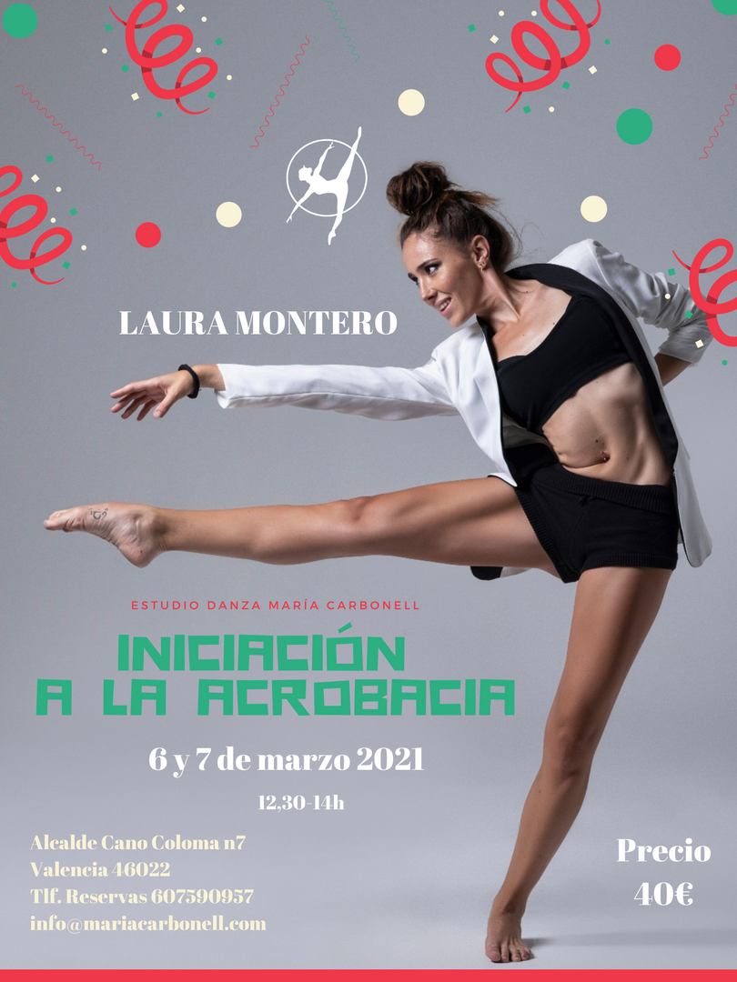 Iniciación a la acrobacia - Laura Montero - 6 y 7 de marzo 2021