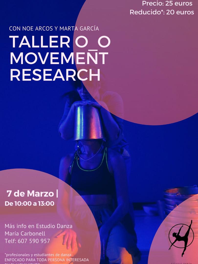 Taller O_O Movement Research - Noe Arco y Marta García - 7 de marzo 2021