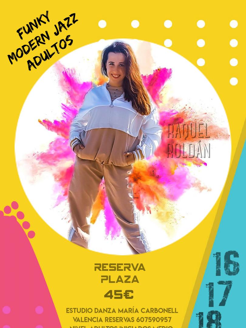 Funky Modern Jazz Adultos - Raquel Roldán - 16, 17 y 18 marzo 2021