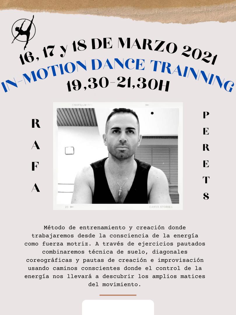 In-Motion Dance Trainning - Rafael Perets - 16, 17 y 18 marzo 2021