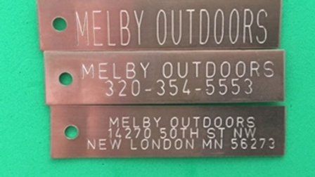 ENGRAVED COPPER TRAP TAGS