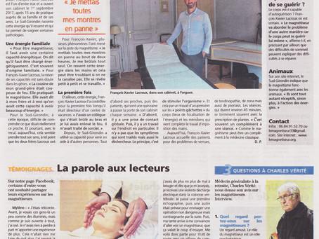 Grand article dans le Républicain Sud-Gironde