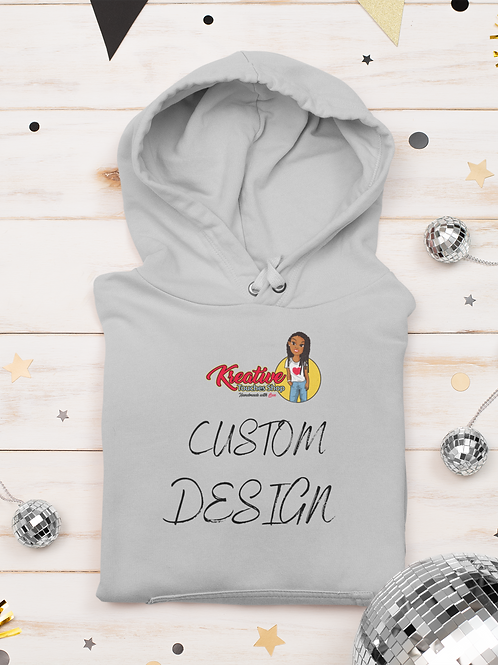 Custom Design Hoodie-TEXT ONLY