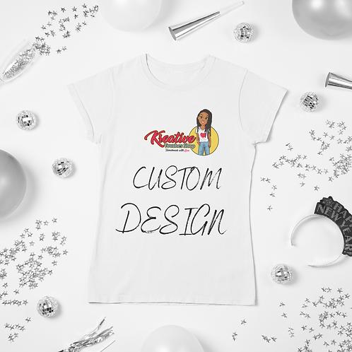 Custom Design Tee-TEXT ONLY