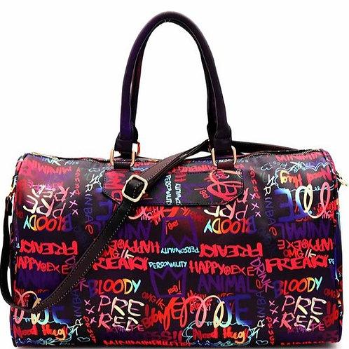 Purple Multi-color Weekender Bag