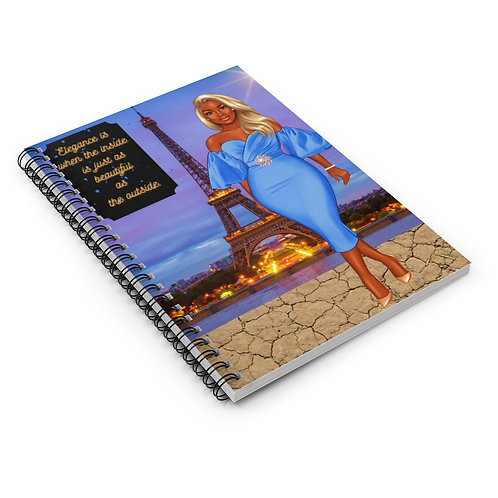 Elegant Lady in Blue Lined Journal