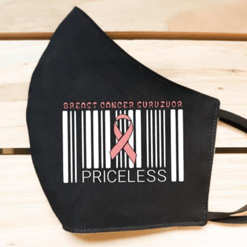 Breast Cancer Survivor Priceless Face Mask