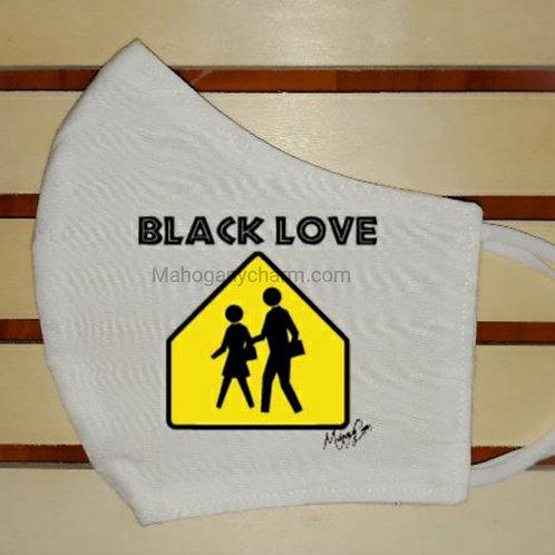 Caution Black Love Mask