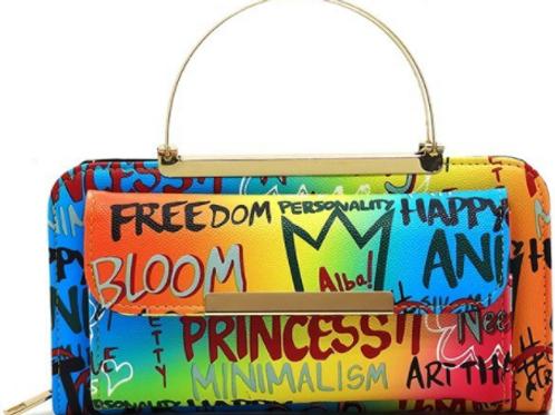 Rainbow Graffiti Princess Bag