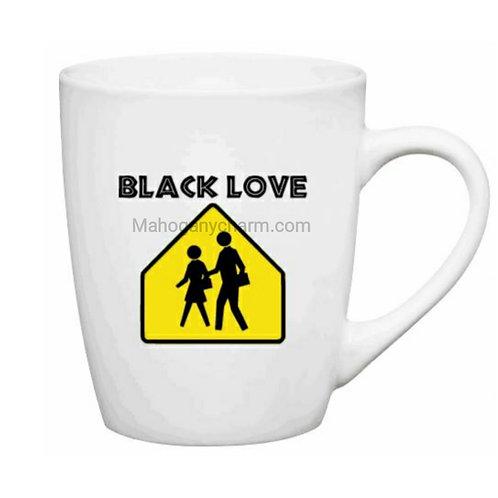 Caution Black Love Mug