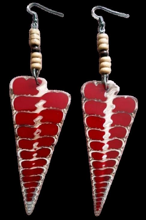 Red Seashell Earrings