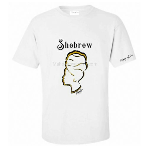 Shebrew Headwrap Tee Gold Glitter and Black