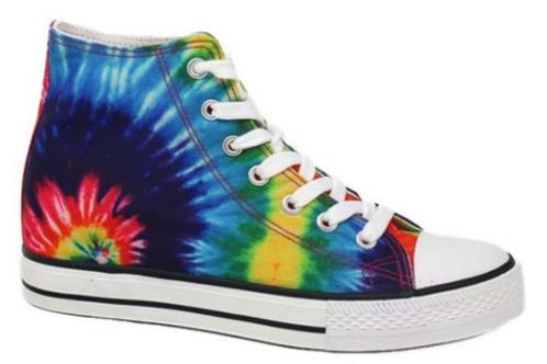 Rainbow Tie Dye Hi Top Sneakers