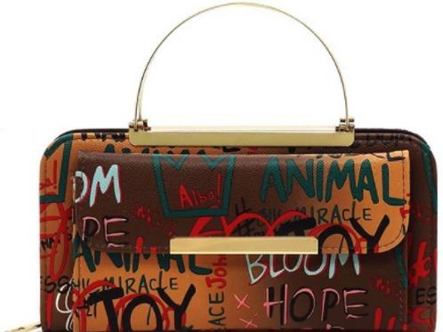 Mahogany Graffiti Princess Bag