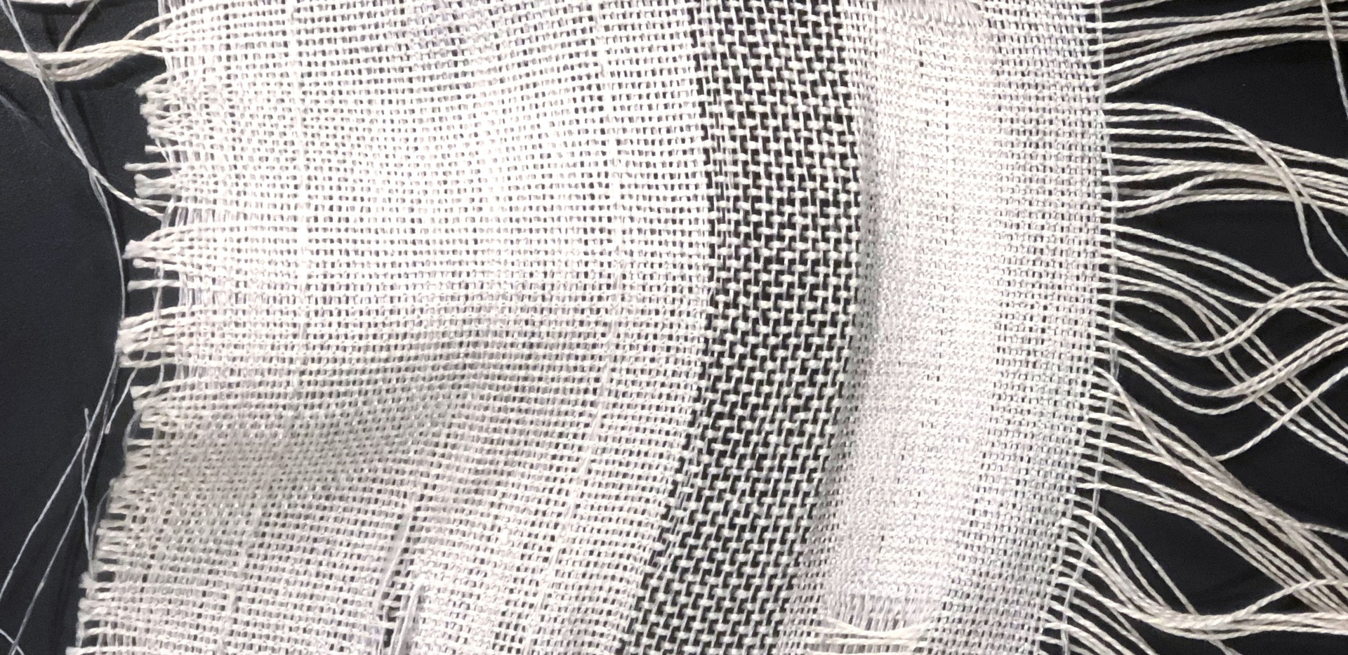 """""""emptiness"""" collection textile sample"""