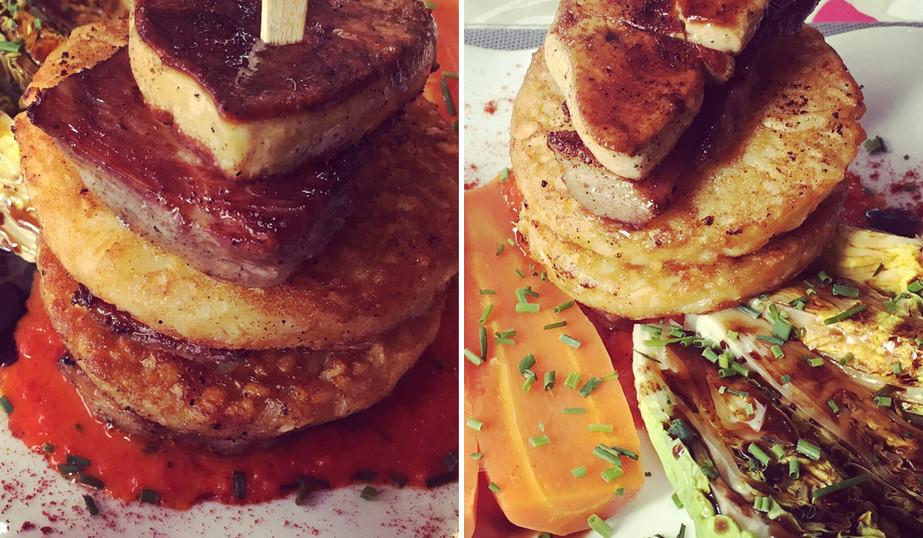 Comme un Burger au foie gras poêlé