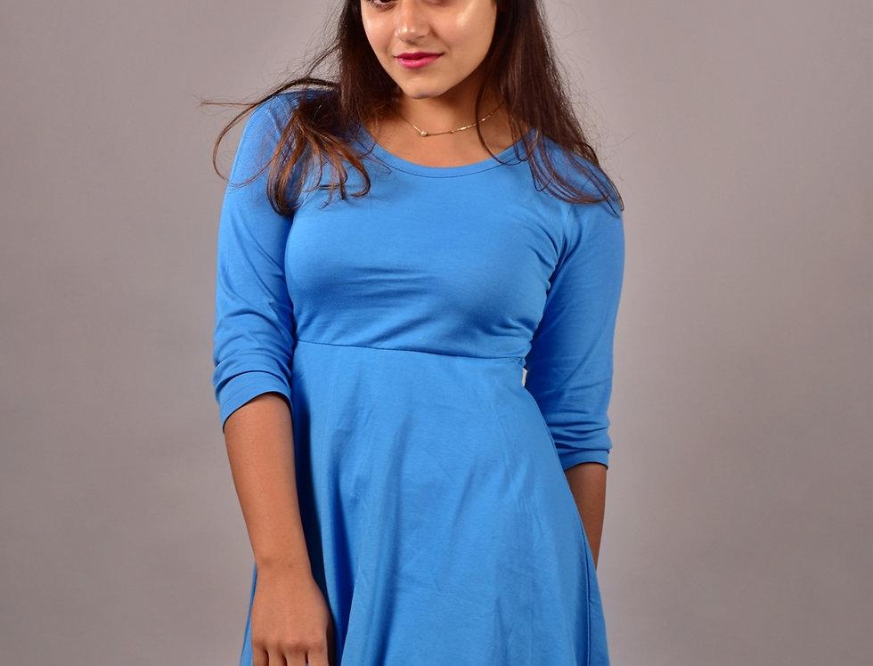 Sea Blue T-Shirt Dress