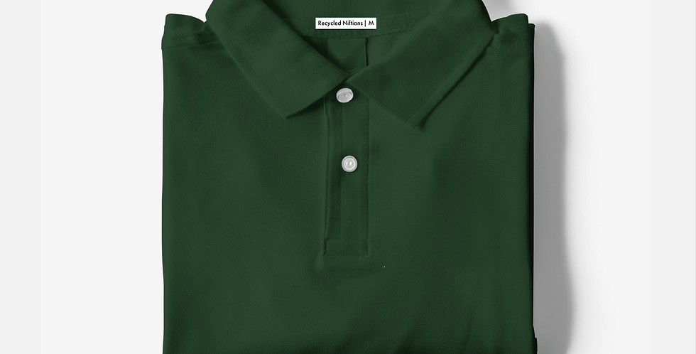 Solid Bottle Green Polo