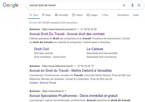 Google adwords Le Bouard Avocats