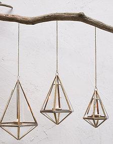 Mokomo Hanging Latern - Antique Brass