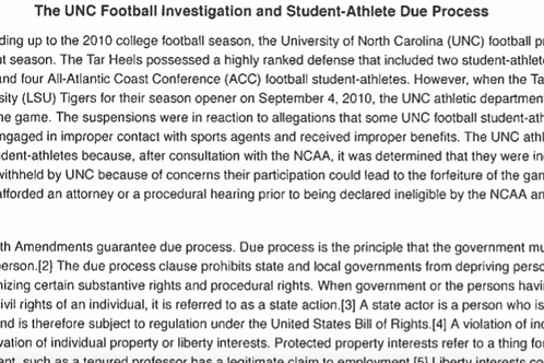 The UNC Football Investigation
