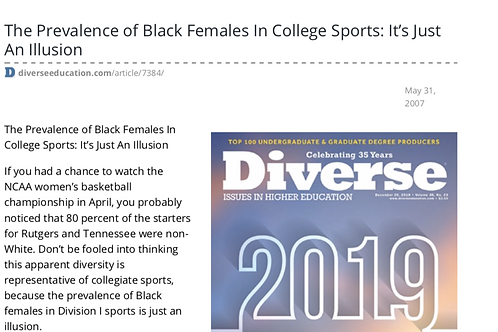 The Prevalence of Black Females in College Sports