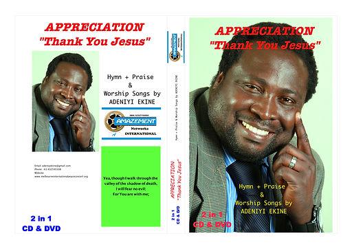 APPRECIATION - BY ADENIYI EKINE - CD DVD
