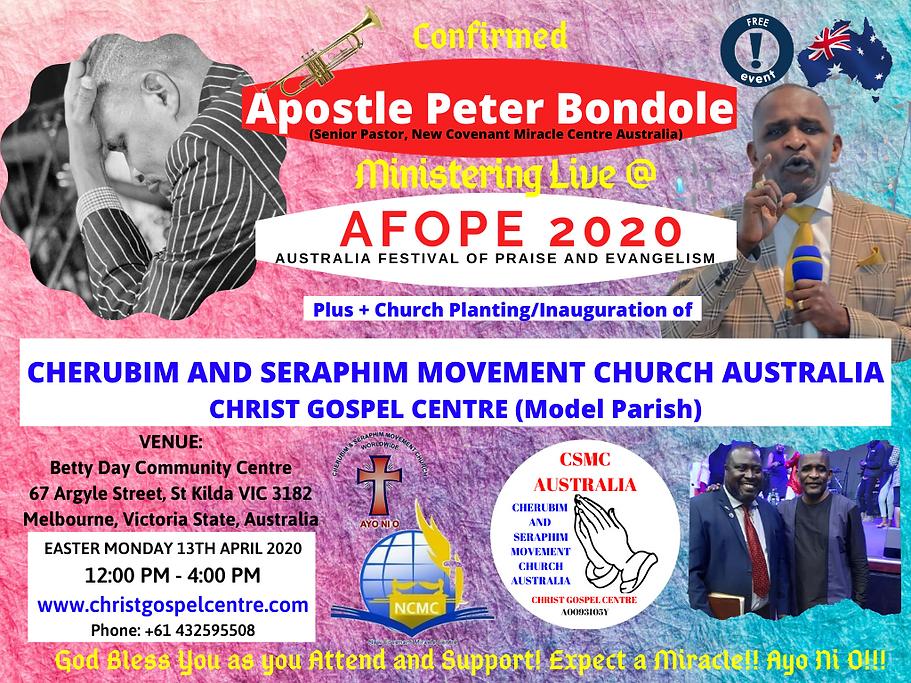Christ Gospel Centre CSMC Australia Medi