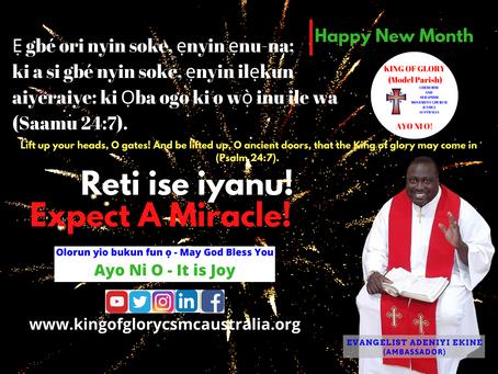 HAPPY NEW MONTH OF JUNE 2021 BY EVANGELIST ADENIYI EKINE (AMBASSADOR).